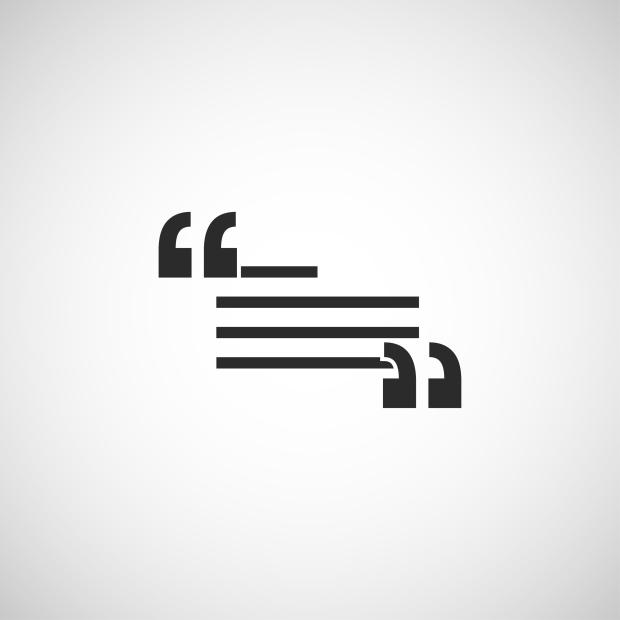 quotation icon. quotation vector illustration