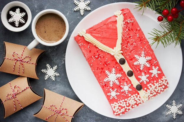 Ugly Christmas Sweater Cake , recipe for winter holiday party